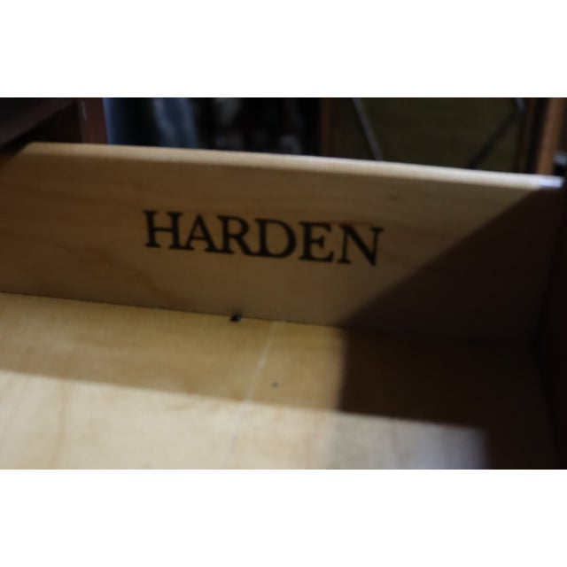 Late 20th Century Harden Chippendale Style Cherry Console Cabinet For Sale - Image 5 of 8