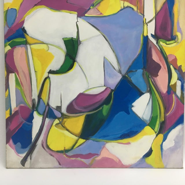 Abstract Deon Robertson Abstract Oil on Canvas For Sale - Image 3 of 4