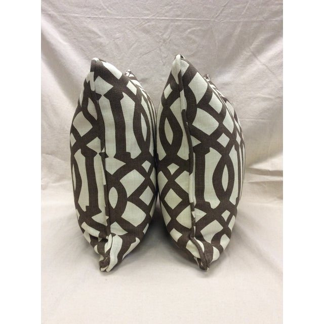 Brown & Neutral Pillows - A Pair For Sale - Image 4 of 7