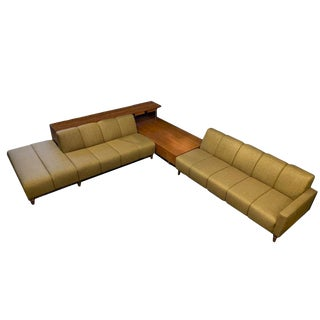 Freestanding Mid-Century Modern Harvey Probber Sectional With Table and Console For Sale