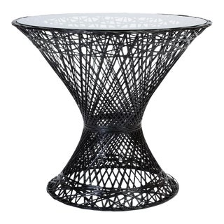 Spun Fiberglass Patio Bistro Table by Woodard Furniture For Sale