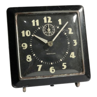 Black Westclox Spur Alarm Clock, C. 1940s For Sale