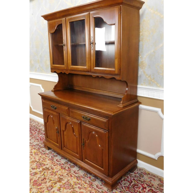 Kitchen Hutch Cabinet: 1980s Solid Maple Dining Room Kitchen China Cabinet Hutch