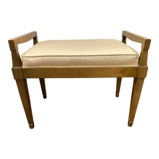 1960s Fruitwood Bench For Sale