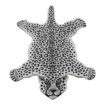 Modern Hand-Tufted Leopard Skin Shape Wool Rug - 3' x 5' - Image 1 of 5