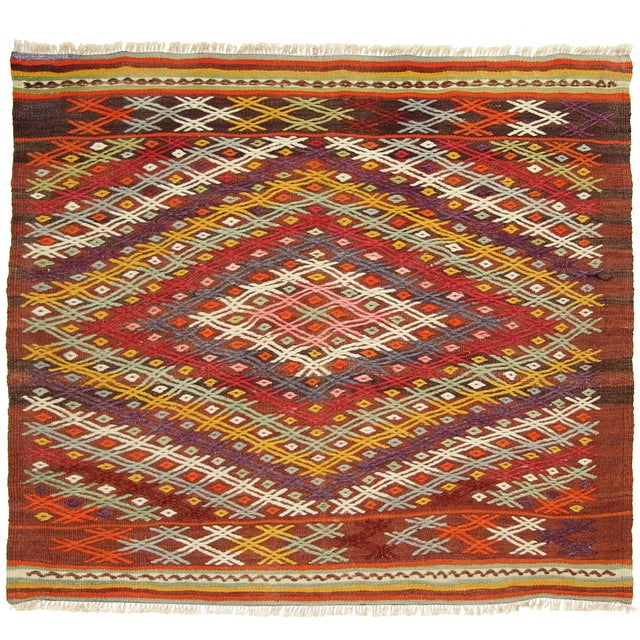 Vintage Turkish Kilim - 3'2 X 3'7 - Image 1 of 3