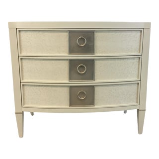Caracole Modern Eye Catching Ivory Nightstand For Sale