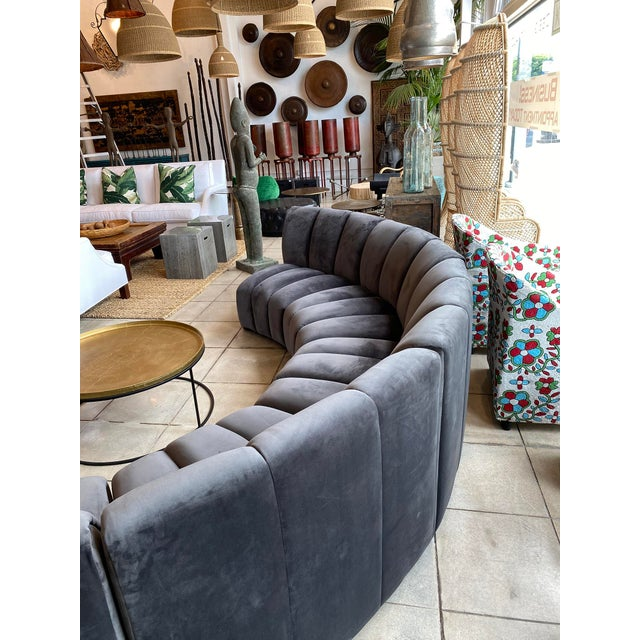 Slate Gray Centipede Sofa For Sale - Image 9 of 11