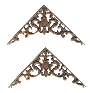 French Style Cast Aluminum Architectural Elements, Pair For Sale