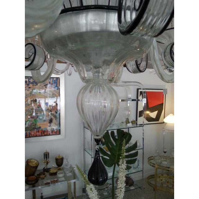 Vintage Murano Louis XV Style Chandelier For Sale - Image 9 of 13