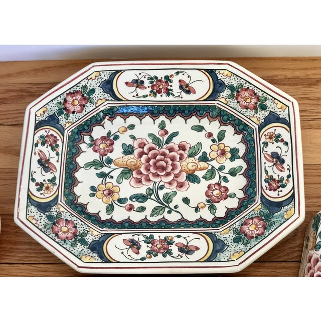 Ceramic Hand Painted Ceramic Lidded Tureen With Under Plate & Ladle For Sale - Image 7 of 12