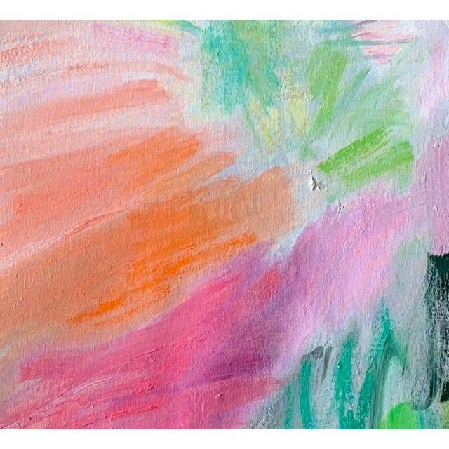 """April Mist"" is an abstract expressionist oil painting on canvas by one of Chairish's top selling and most trusted..."
