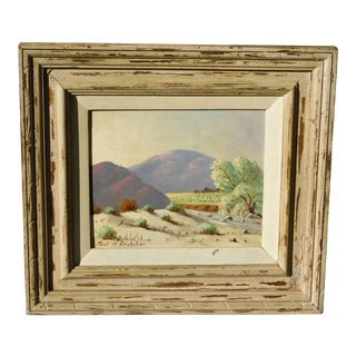 Vintage Mid-Century Paul Crutcher Oil on Board Framed Painting For Sale