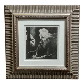 Andrew Wyeth -Portrait of Henrietta Original 1967 Etching For Sale