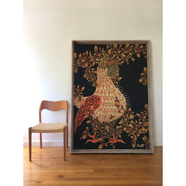 Huge tapestry by famous midcentury artist Jean Lurcat who is known for reviving the lost art of tapestry weaving in France...