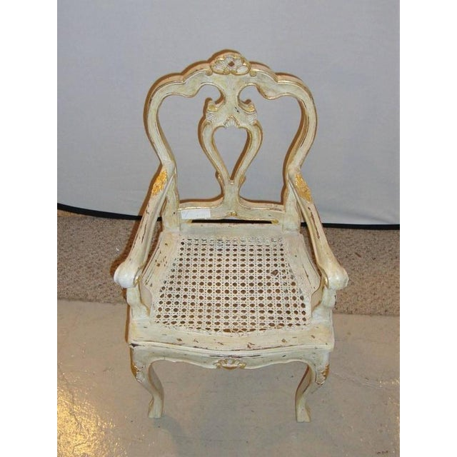 Louis XV Style Gilt Decorated Arm Chair - Image 3 of 9