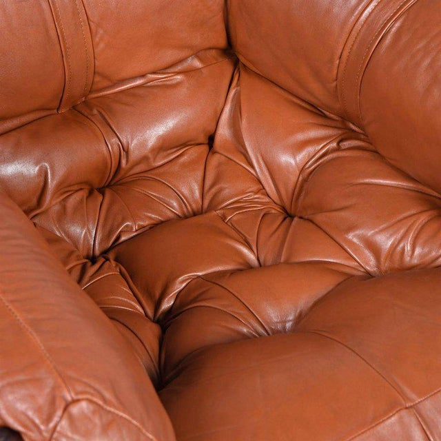 Brown Percival Lafer Mp-81 Brazilian Rosewood & Leather Lounge Chairs and Ottoman Set For Sale - Image 8 of 13