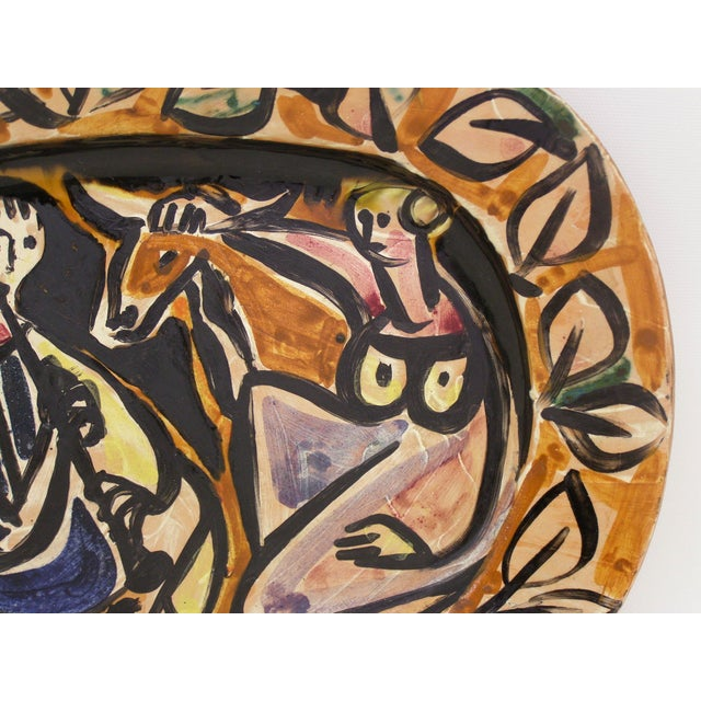Picasso Style Mid-Century Modern Ceramic Wall Plaque Sculpture Plate MCM - Image 6 of 11