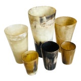 Image of Collection of 6 Antique Horn Drinking Vessels For Sale