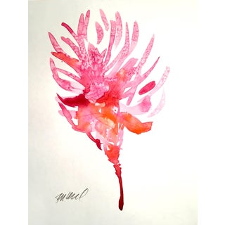 Scarlet Pine Watercolor For Sale