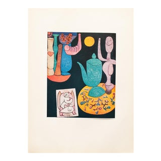 """1955 Paul Klee """"Still Life"""", First Edition Lithograph For Sale"""