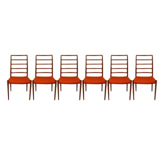 Set of Six Danish Modern Niels Moller for j.l. Moller Dining Chairs Model 82 For Sale