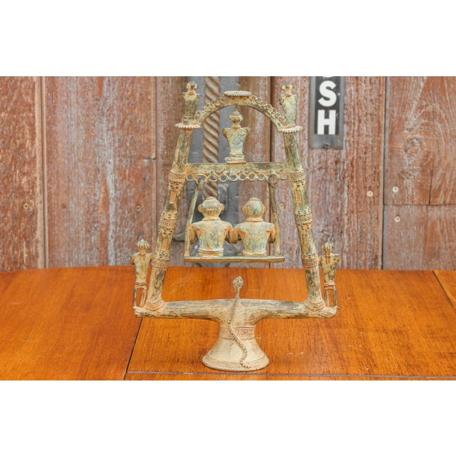 Tribal Bastar Figurines on Swing For Sale - Image 9 of 11
