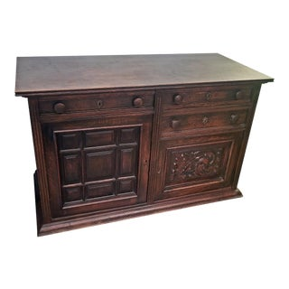 19c English Oak Cabinet of Nice Proportions For Sale