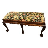 Image of 20th Century Chippendale Claw Foot Mahogany Bench For Sale