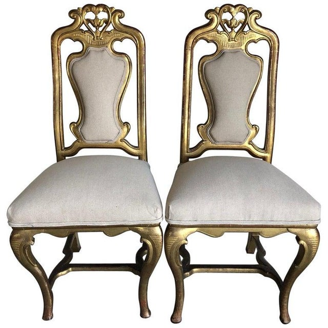 Late 19th Century French Giltwood Chairs- A Pair For Sale - Image 11 of 11