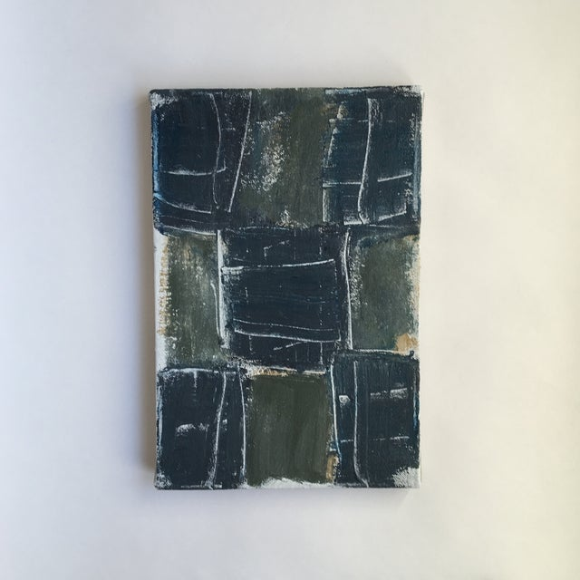 Signed abstract acrylic painting on canvas by Mark Saltz Era: 2015 - Present Material: Canvas, Acrylic Object Type:...