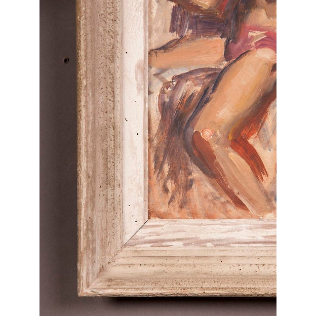 Signed painting by English artist Victor Hume of an Athlete, circa 1960 For Sale In Houston - Image 6 of 8