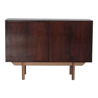 1960s Danish Modern Gunni Omann Rosewood and Oak Cabinet For Sale