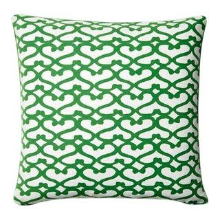 Green Roberta Roller Rabbit Pillow Cover For Sale