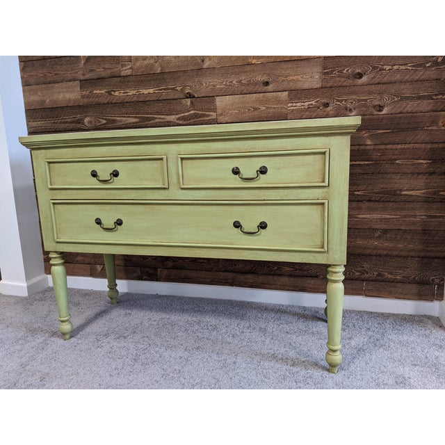 1950s Mid Century Green Chest With Drawers For Sale - Image 10 of 13