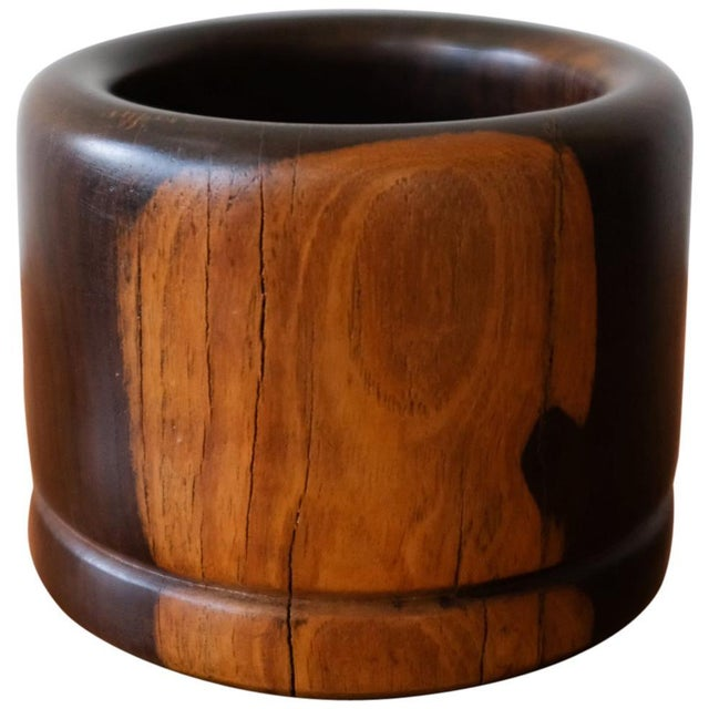 Wood Cocobolo Vessel by Mexican Modernist Don Shoemaker, 1970s For Sale - Image 7 of 7