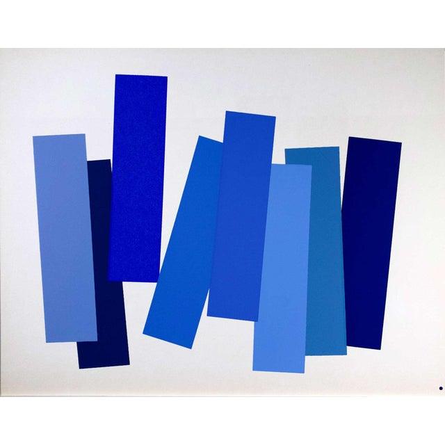 Modern Josef Albers Original Silkscreen [V-3a] Ltd Ed. Color Study + Custom Framing For Sale - Image 4 of 6