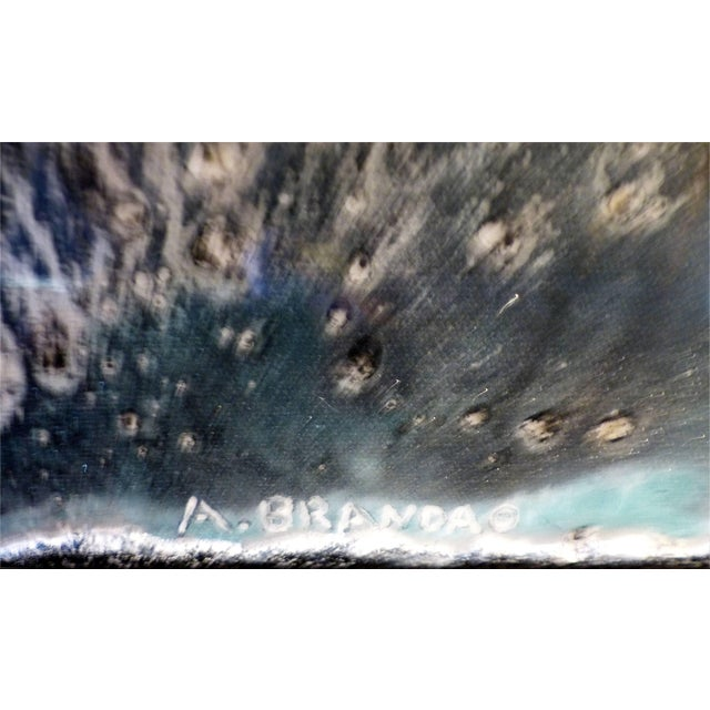 """Early 21st Century Andre Brando Abstract Painting by Titled """"Space"""" For Sale - Image 5 of 11"""
