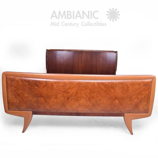 Italian Mid-Century Modern Italy Bed Frame For Sale - Image 3 of 10