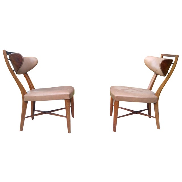 Mid-Century Slipper Chairs by Drexel - A Pair - Image 1 of 5
