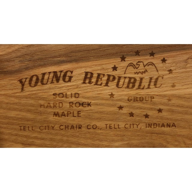 Tell City Chair Company Young Republic Solid Hard Rock Maple Dresser For Sale - Image 10 of 11