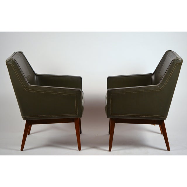 Early Modernist Armchairs by Vista of California for Stow Davis - a Pair For Sale - Image 11 of 11