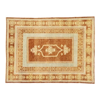 Contemporary Turkish Oushak Rug With Modern Rustic Style - 05'10 X 07'10 For Sale