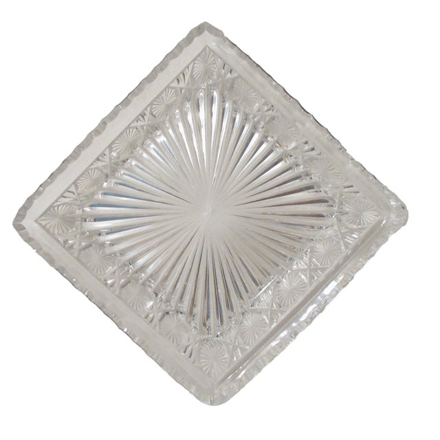American Classical Antique English Crystal & Sterling Silver Pate Service, C.1860 For Sale - Image 3 of 5