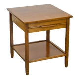 Image of Mid Century Modern Maple 1 Drawer Nightstand Side Table For Sale