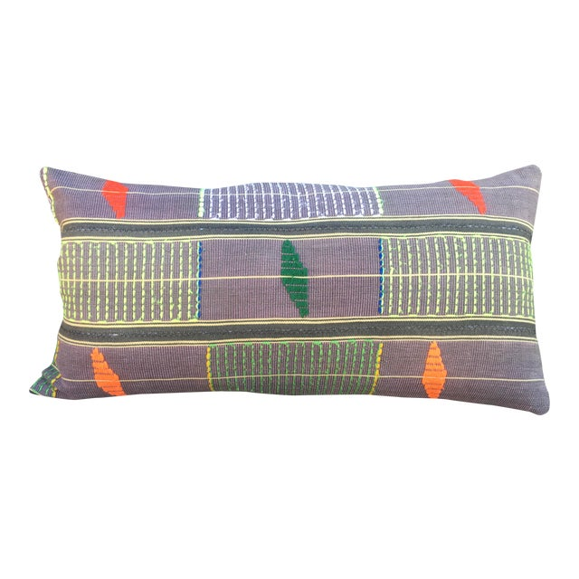 African Embroidered Mali Mudcloth Pillow For Sale