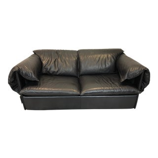 Vintage Niels Eilersen Leather Convertible Couch Sofa For Sale