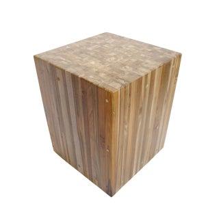 Wood Cube Stool
