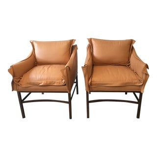 1990s Vintage Leather Chairs- a Pair For Sale