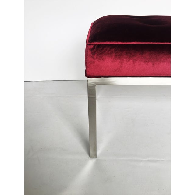 Mid-Century Modern Florence Knoll Tufted Bench For Sale - Image 3 of 7